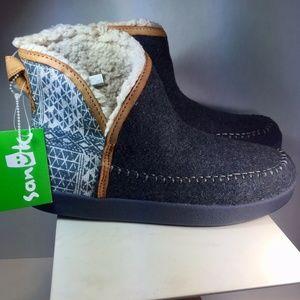 Sanuk Casual Boots Ojai Ankle Gray  Women's 8.5